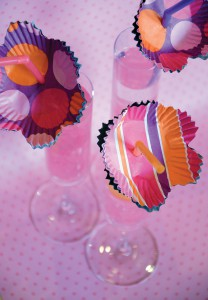 Use patterned cupcake liners to make these cute straws for a Spring Party