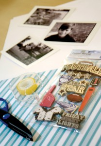 Spend some time with your kids to assemble a scrapbook that Dad will cherish forever